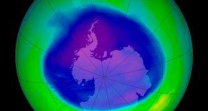 Antarctic ozone hole 2005