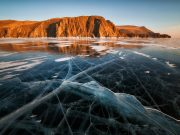 Ice on Lake Baikal
