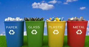 large recycling bins
