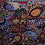 Ευδοξία Παπασαββα, Συμπαντική Αφθονία, 70x100cm μικτή τεχνική σε καμβά