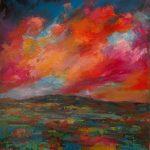 ΤΖΟΜΑΚΑΣ ΓΙΑΝΝΗΣ, Yiannis tzomakas The Dawn, 100x80cm acrylics on canvas