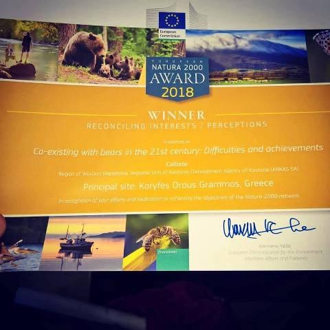 Callisto.winnerNawards2000 certificate