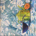 Πετροπούλου Ειρήνη, Gardenias, 60x60cm, Λάδι σε καμβά