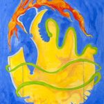 Ραχωβίτσα Νατάσσα, 80x110cm, τέμπερες σε χαρτί