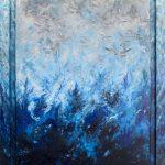 Νiki Michailidou, The sea inside me, 120x90cm, Acrylics on canvas