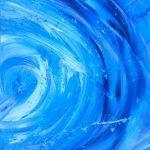 Leonidas Kampanakis, Sea vortex, 100x70cm, Acrylics and paste on canvas