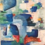 Marikita Manolopoulou, Sea of heaven I, 60x50cm, Acrylics on canvas