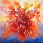ΚΙΛΕΣΣΟΠΟΥΛΟΣ ΑΠΟΣΤΟΛΟΣ, 'Η Μεγάλη έκρηξη', Πλουτώνεια Σειρά, αρ.8, λάδι, 150Χ160 εκ., 1990.