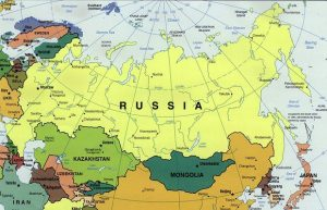 Russia Map Political