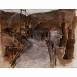 Πανουτσόπουλος Γιάννης, Ευδιάκριτες μνήμες του παρελθόντος, 35x50cm, Μελάνι σε χαρτί