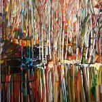 Παχιαδάκης Νεκτάριος, Ευανάγνωστες Αντανακλάσεις, 60x60cm, Λάδι σε καμβά