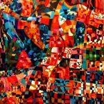 Παχιαδάκης Νεκτάριος, Πρωινό ξύπνημα, 112x112 cm, Λάδι σε καμβά