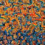 Ριμπάς Δημήτρης, Ευγενείς γραμμές της φύσης, 60x60cm, Ακρυλικά σε καμβά