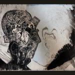 Τσαβαρή Καίτη, Ευφάνταστες μνήμες, 35x30cm, Χαρακτικό και μελάνια