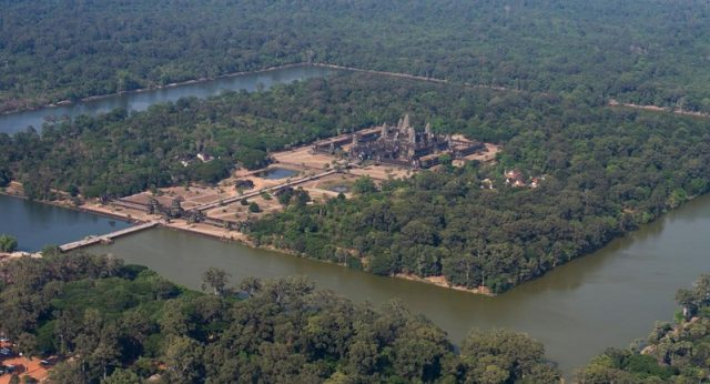 Aerial Photos of Angkor Wat Siem Reap, Cambodia