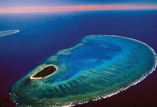 coral reef islands