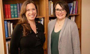 professors Tara M. Powell, left, and Kate M. Wegmann