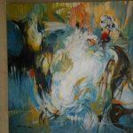 Ασλανίδου Δέσποινα, Επικονίαση, 80x80cm, Ακρυλικό σε καμβά, 1.000 ευρώ (Large)