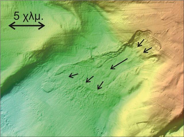 Βυθομετρικη αποτυπωση υποθαλασσιας κατολισθησης στο Βορειο Αιγαιο 1