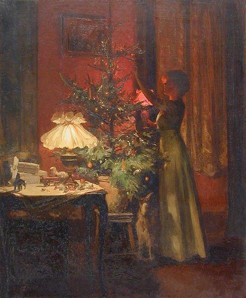 Στολίζοντας το Χριστουγεννιάτικο δέντρο Marcel Rieder 1898