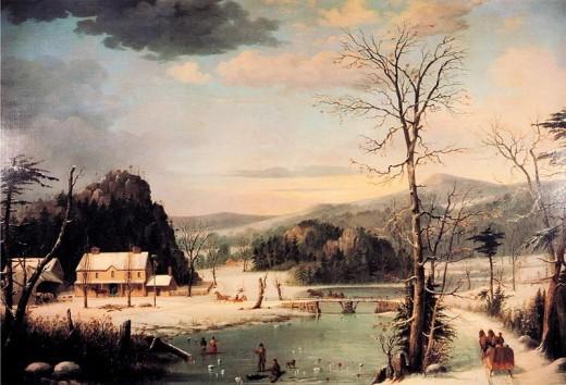 Χριστουγεννιάτικο παρτυ George Henry Durrie 1852