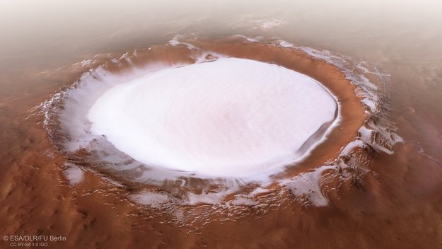 Perspective view of Korolev crater large