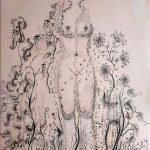 Κουρτέλη Κατερίνα, Freedom through ashes, 100x70cm, Αυγοτέμπερα σε καμβά
