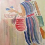 Μαυρολέων Κατερίνα, Marianne, 50x40cm, Ακρυλικά σε καμβά