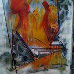 Μηλιώνη Μαρία, Η Ελευθερία,70x50cm, Ακρυλικό σε χαρτί