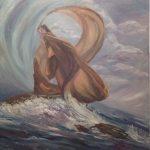 Ρούση Υρώ, Ελευθερία, 70x60cm, Λάδι σε καμβά