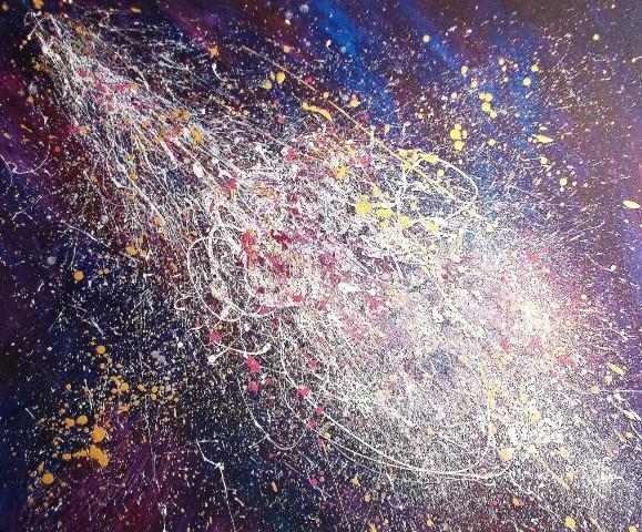 Στεφάνου Μαίρη, Galactic Symphony, 100x120cm, Ακρυλικό