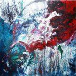 Στεφάνου Μαίρη, Libert , 120x120cm, Ακρυλικά σε καμβά