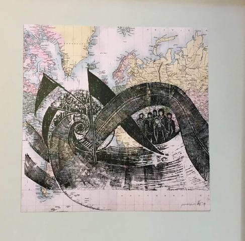 Τσαβαρή Καίτη, Διαχρονικό αίτημα, 30x30cm, Ξυλογραφία σε χαρτί