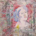 Τσιλιλή Ελένη, Μαρίκα Νίνου, 100x70cm, Ακρυλικά και μαρκαδόρος σε χαρτί
