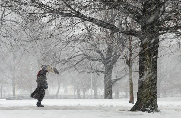 Snow rain wind