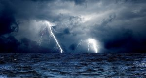 storm sea
