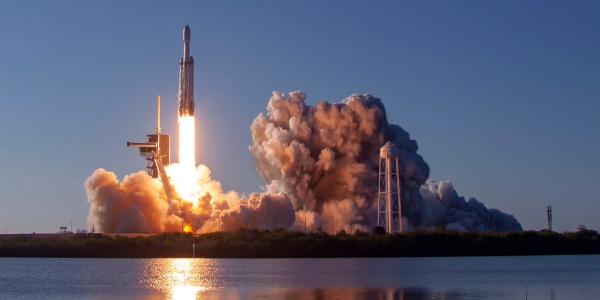Liftoff of Falcon Heavy