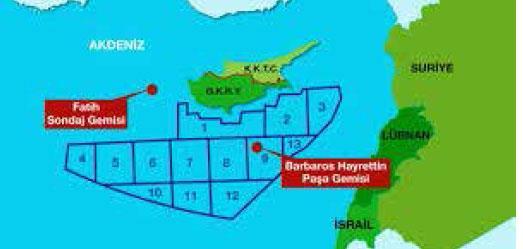 Τουρκικός χάρτης για κυπριακή ΑΟΖ 1