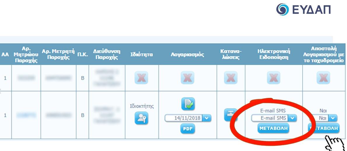 e-EYDAP eEYΔAΠ λογαριασμός