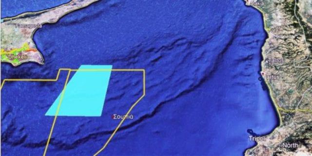 χάρτης για Navtex Κύπρου για τη δράση του Γιαβούζ