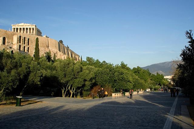Δέντρα στην Αθήνα, Ακρόπολη