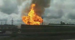 Μεγάλη φωτιά σε εργοστάσιο ηλεκτρισμού κοντά στη Μόσχα