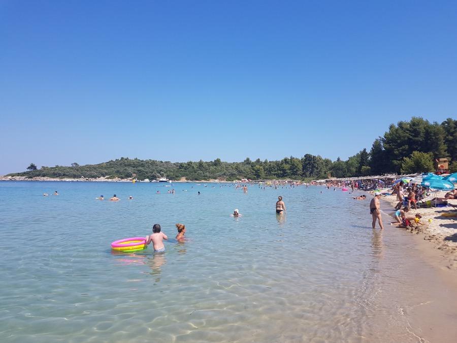 Παραλία Παλιούρι, Χαλκιδική