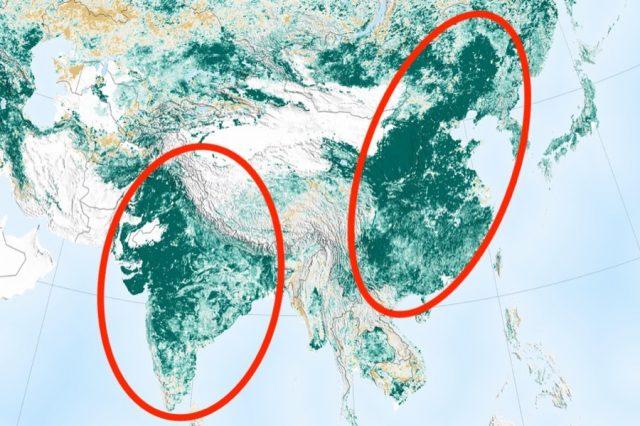 NASA: Η Γη έχει περισσότερο πράσινο σήμερα απ' ότι 20 χρόνια πριν