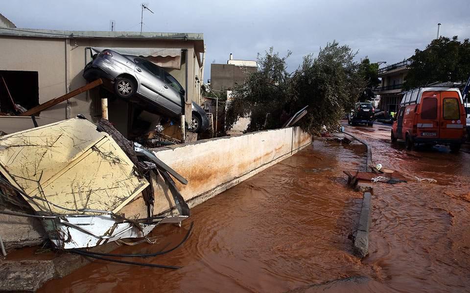 πλημμύρες στη Μάνδρα