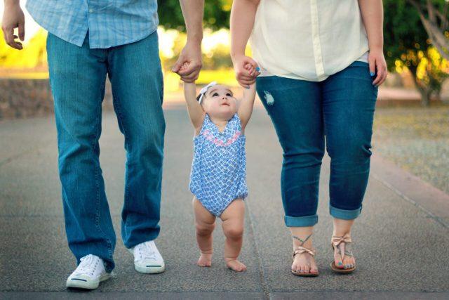 Γονείς, παιδί, μωρό
