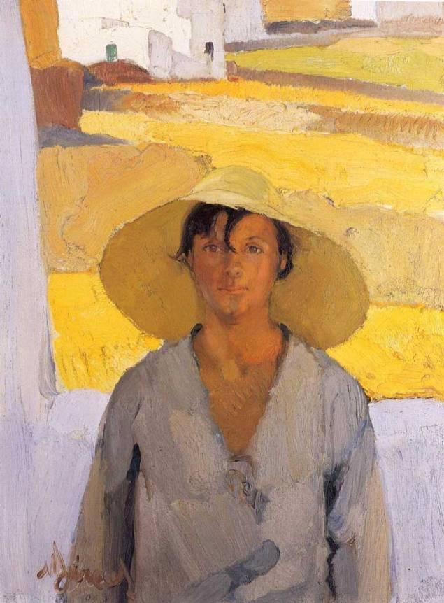 Νικόλαος Λύτρας, Ψάθινο καπέλο, περ. 1923 26