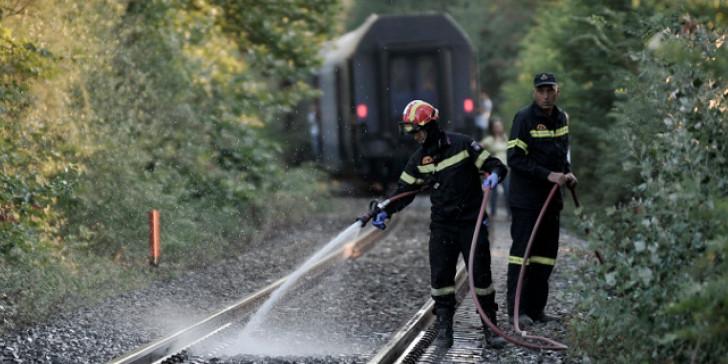 πυρκαγιά σιδηροδρομική γραμμή