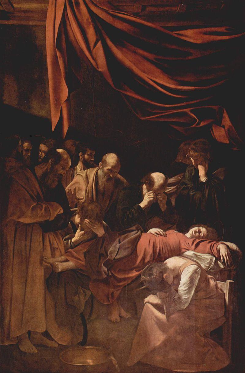 Caravaggio, Death of the Virgin, 1604 1606