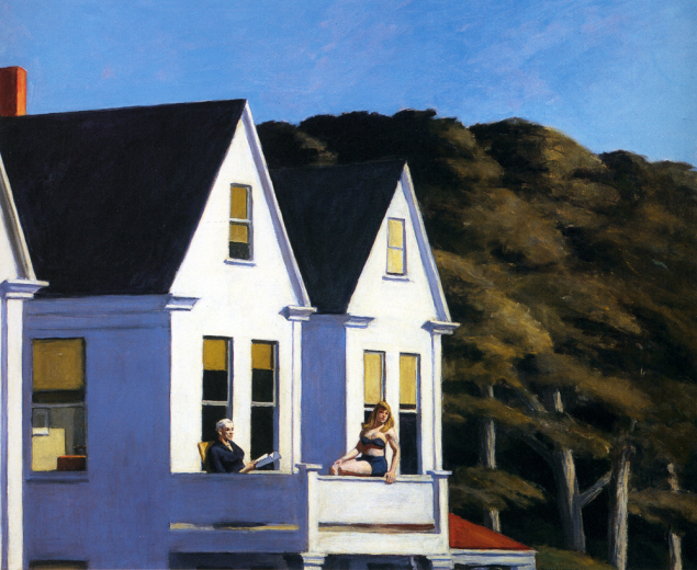 edward hopper second storey sunlight 1960